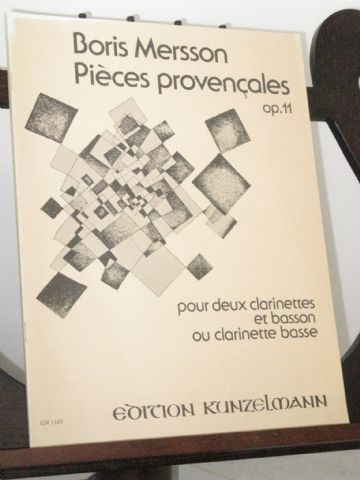 Mersson B - Pieces Provencales Op 11 for 2 Clarinets & Bassoon